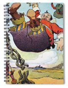 Woodrow Wilson Cartoon Spiral Notebook