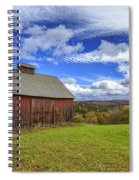 Woodstock Vermont Old Red Barn In Autunm Spiral Notebook