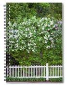 Woodstock Village Lilacs Spiral Notebook