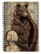 Woof And The Girl Spiral Notebook