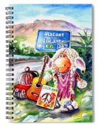 Woolhelmina The Scottish Sheep Playing Flamenco Spiral Notebook