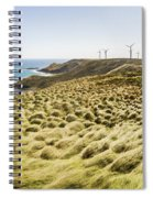 Woolnorth Wind Farm And Ocean Landscape Tasmania Spiral Notebook
