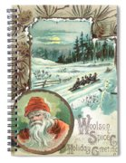 Woolson Spice Company Christmas Card Spiral Notebook