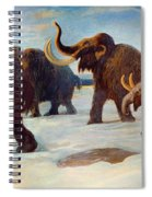 Wooly Mammoths Near The Somme River Spiral Notebook