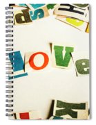 Word Of Love Spiral Notebook