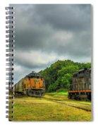 Work Horse Trains 3 Madison Georgia Locomotive Art Spiral Notebook