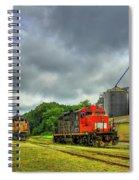 Work Horse Trains 7 Madison Georgia Locomotive Art Spiral Notebook