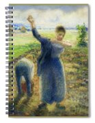 Workers In The Fields 1896-97 Camille Pissarro Spiral Notebook
