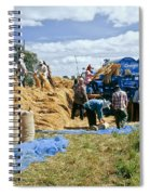 Workers Loading Rice Spiral Notebook