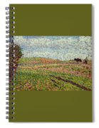 Working At Eragny 1886 Camille Pissarro Spiral Notebook
