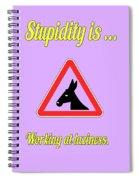 Working Bigstock Donkey 171252860 Spiral Notebook