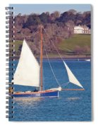 Working Boat At Trelissick Cornwall Spiral Notebook