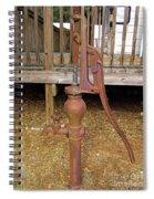 Working Hand Pump Spiral Notebook