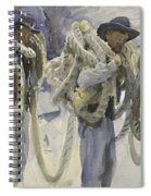 Workmen At Carrara Spiral Notebook