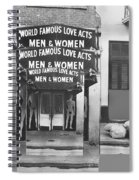 World Famous Love Acts French Quarter New Orleans Louisiana 1976-2012 Spiral Notebook