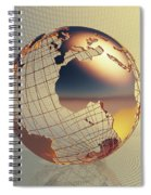 World Global Business Background Spiral Notebook