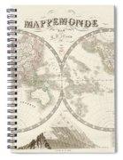 World Map - 1842 Spiral Notebook