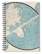 World Map - 1857 Spiral Notebook