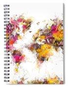 World Map 2033 Spiral Notebook