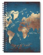 World Map 2065 Spiral Notebook