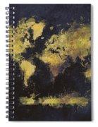 World Map Art 65 Spiral Notebook