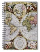 World Map, C1690 Spiral Notebook
