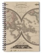 World Map Divided Into Two Hemispheres Spiral Notebook