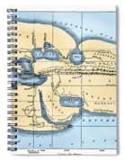 World Map: Eratosthenes Spiral Notebook