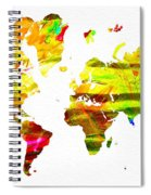 World Map Painted Spiral Notebook