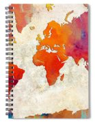 World Map - Rainbow Passion - Abstract - Digital Painting 2 Spiral Notebook