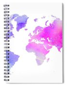 World Map Watercolor  Spiral Notebook