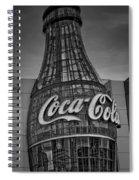 World Of Coca Cola Bw Spiral Notebook