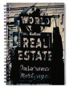 World Real Estate Chicago Spiral Notebook