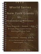 World Series 1913 Spiral Notebook