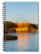 World Showcase Lagoon Before The Show Walt Disney World Spiral Notebook