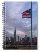 World Trade Center Freedom Tower New York City American Flag Spiral Notebook