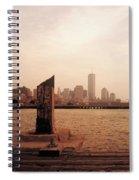 world Trade Center From Pier Spiral Notebook