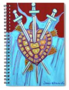 World Turtle Three Of Swords Spiral Notebook