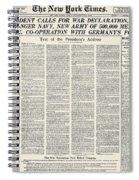World War I: Declaration Spiral Notebook
