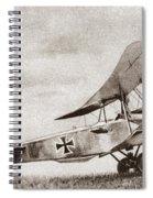 World War I: German Biplane Spiral Notebook