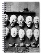 World War I Masks, 1918 - To License For Professional Use Visit Granger.com Spiral Notebook