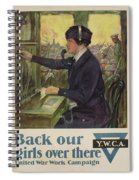 World War I Ywca Poster Spiral Notebook