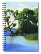 Worlds Away Off The Wye River Spiral Notebook
