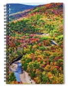 Worlds End State Park Lookout 3 - Paint Spiral Notebook
