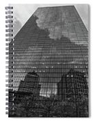 World's Largest Canvas John Hancock Tower Boston Ma Black And White Spiral Notebook
