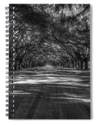 Wormsloe Plantation 2 Live Oak Avenue Art Spiral Notebook
