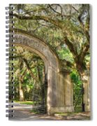 Wormsloe Gate Spiral Notebook