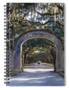 Wormsloe Gates Spiral Notebook