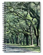 Wormsloe Georgia No. 7668 3 Of 3 Set Color Spiral Notebook