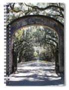 Wormsloe Plantation Gate Spiral Notebook